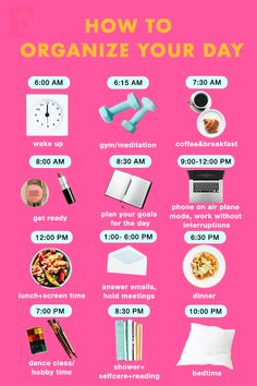 How To Organize Your Day - daily routine - Skin Care Haut Routine, Healthy Morning Routine, Morning Routine Printable, Morning Routines, Sunday Routine, Bed Time Routine, Healthy Routine Daily, Healthy Eating Schedule, Daily Routine For Women