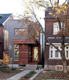 Toronto designer Julia Knezic built this house for her own family in a narrow lot next to her mom's house. Photo by Sean Galbraith. Check...