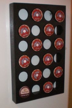 Great K-cup storage, sticks on your fridge, holds 24 cups.  And it's from ETSY!