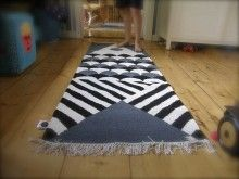 KALA/ FISH dhurrie carpet designed by Mum's & Susanna Vento. Interior. Size 60x180cm