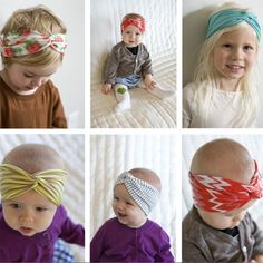 Super cute baby head wraps