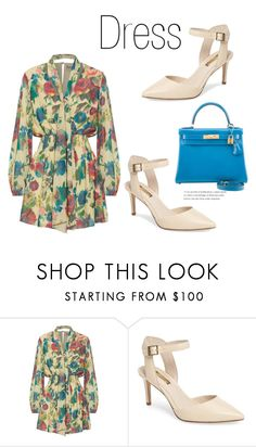 """569"" by meldiana ❤ liked on Polyvore featuring Haute Hippie, Louise et Cie and Hermès"