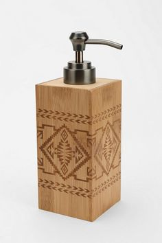 Pendleton bamboo basket soap dispenser #urbanoutfitters #yourhomemagazine #home #bathroom #dispenser #soap #diy #crafts #decoration #cleaning