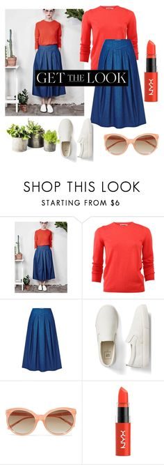 """Untitled #420"" by dolrebeca ❤ liked on Polyvore featuring Jil Sander, Gap, Linda Farrow and NYX"