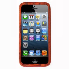 Give your iPhone 5 a Unique Look with this Made out of Mahogany Wood Case from BaseCase, now available to buy in India