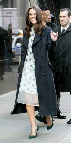 Keira Knightley does florals for winter.