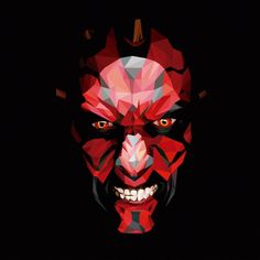 Dark Maul on Behance Dark Maul, Star Wars Sith, Clone Wars, Age Of Ultron, Low Poly, Starwars, Captain America, Dragons, Iron Man