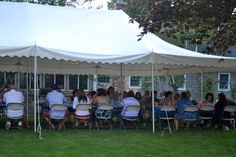 Backyard BBQ bridal shower.