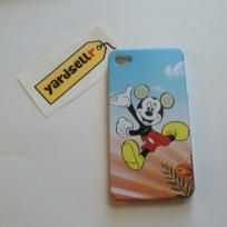 Mickey Mouse Series Running Hard Case Shell with Transparent Frame for iPhone 4/4S