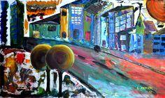 Cidade - Óleo sobre tela