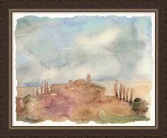 Back - Watercolor Skyline 1 - Landscape - Our Product