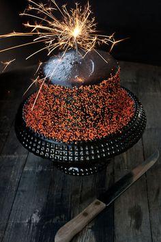 food + words » black velvet layer cake.