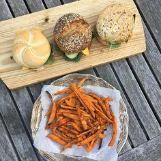 MAJA ELDERS: Vegetarische Bonen Burger & Sweet Potato Fries