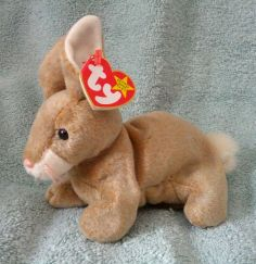 Ty Original Beanie Babies Retired Nibbly the Bunny Rabbit MWMT #Ty