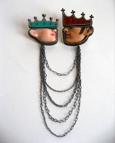 The King & Queen Brooch by Margaux Lange