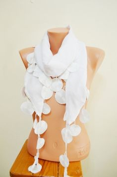 White Scarf. Beach scarf. TrendyScarf by TrendyScarf on Etsy, $12.99