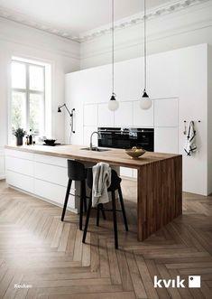 Mano Kitchen Bathroom by Kvik Interior Design Kitchen Bathroom Kitchen Kvik Mano Scandinavian Interior Design, Scandinavian Kitchen, Home Interior, Interior Design Kitchen, Nordic Kitchen, Kitchen Modern, Kitchen White, Modern Scandinavian Interior, Kitchen Design Minimalist