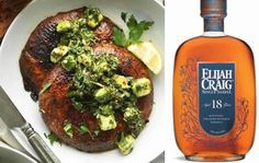 #CAsRecipes | 7 Vegan Recipes Perfect for Whiskey Pairing (When Wine Won't Do) - Some nights, wine simply won't do. Here are seven sophisticated vegan food and whiskey pairings for the perfect evening in. Pictured: Elijah Craig 18-Year Old Single Barrel Bourbon and Grilled Portobello Mushrooms