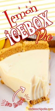 Old Fashioned Lemon Icebox Pie is the perfect combination of sweet and tangy. No baking means this pie is super easy!   #nobake #lemon #oldfashioned #eaglebrand #recipe Lemon Dessert Recipes, Lemon Recipes, No Bake Desserts, Easy Desserts, Baking Recipes, Delicious Desserts, Yummy Food, Frozen Desserts, Summer Desserts