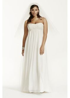 Crinkle Chiffon Gown with Lace Applique 9KP3695
