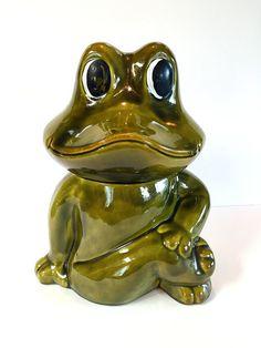 Neil The Frog Cookie Jar Sears Roebuck Vintage Retro Kitsch Kitchen Decor