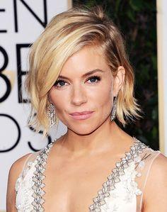 short hair-short hair cuts for women-short hair styles-short hair cuts- short bob- deep side part- red carpet- blonde- sunkissed