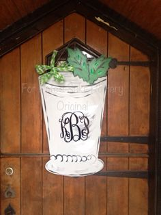 Mint julep Derby Door Hanger by forpetessakepottery on Etsy https://www.etsy.com/listing/188119357/mint-julep-derby-door-hanger