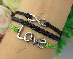Infinity bracelet love the bracelet and the by themagicbracelet, $3.59