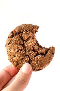 These chewy ginger molasses cookies are a healthy sweet treat and simply perfect for the holidays! Gluten-free, grain-free, vegan and also paleo too!
