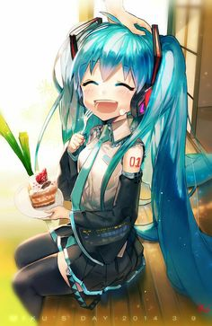 Hatsune Miku - Vocaloid - Building a vocaloid playlist is rather hard and time consuming. Neko Kawaii, Lolis Neko, Loli Kawaii, Anime Chibi, Manga Anime, Vocaloid, Kaito, Manga Girl, Anime Girls