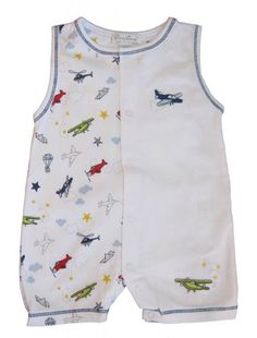 0e45e346329f Amazon.com  Kissy Kissy Baby Boys Aviators Sleeveless Short Playsuit- 9  Months  Infant And Toddler Rompers  Clothing