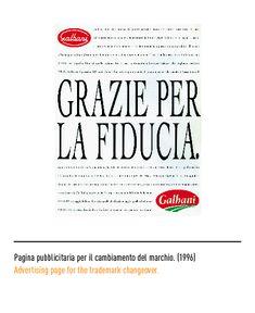 Pagina pubblicitaria per il cambiamento del marchio 1996