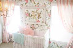 Glamorous vintage nursery via Project Nursery! #laylagrayce #nursery