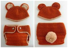 disfraz osito bebé crochet