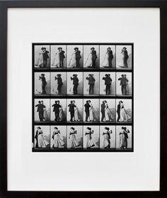 Animal Locomotion; Plate 197 (Couple Dancing)  by Eadweard Muybridge