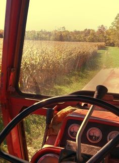 As Seen Through the Tractor's Window...