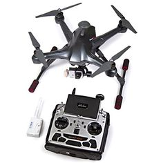 Walkera Scout X4 Ready to Fly FPV RC Quadcopter with Ground Station, 3 Axis Brushless Gimbal, iLook+ Action Camera and Devo F12E 2.4Ghz Transmitter