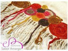 Aplicaciones en fieltro / Inspiración. // Santa Nails, Fiber Art Quilts, Felt Art, Landscape Paintings, Landscapes, Crochet Necklace, Arts And Crafts, Textiles, Wool