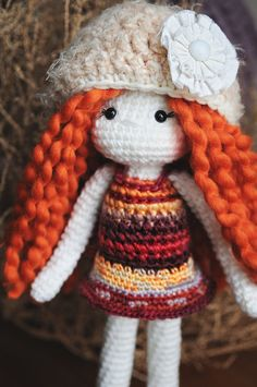 Ginger Crochet Doll  Ready to Ship. by LinaMarieDolls on Etsy ♡
