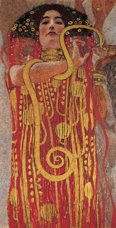 Hygieia detail from Medicine by Gustav Klimt