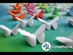Origami motýl - návod | i-creative.cz - Inspirace, návody a nápady pro rodiče, učitele a pro všechny, kteří rádi tvoří. Geek Crafts, Crafts To Do, Paper Crafts, Origami Butterfly, Operation Christmas Child, Origami Animals, Steampunk Diy, Animal Crafts, Kirigami