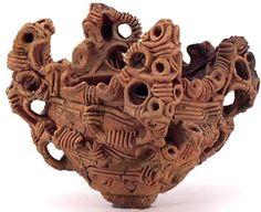 Jomon Period Japanese Pot with Whorl Design 3000–2000 BC