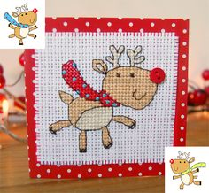 Festive Reindeers - PDF Cross Stitch Patterns - Instant Download