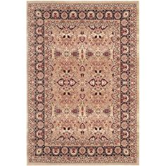 Darby Home Co Marion Cream/Navy Area Rug Rug Size:
