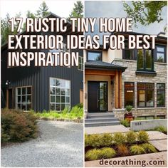17 Rustic Tiny Home Exterior Ideas For Best Inspiration Country Home Exteriors, Rustic Houses Exterior, Tiny House Exterior, Small House Exteriors, Luxury Decor, Luxury Interior, Rural House, Elegant Homes, Natural Materials