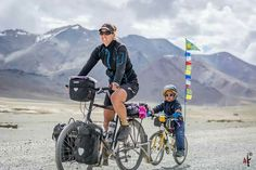 Define courage? A mother and her kid cycling through Ladakh..... Just Amazing...Respect