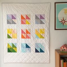 Just finished this cute, colorful custom quilt!