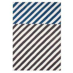 Ben De Lisi Home Blue And Grey Wool Stripes Rug At Debenhams