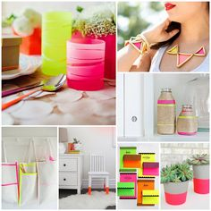 Neon and Neutral DIY Crafts