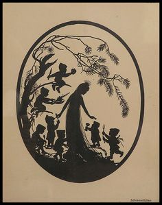 Vintage Fairytale Silhouette by Boxwoodcottage